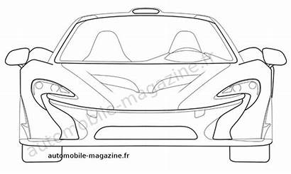 Mclaren P1 Drawings Patent Pages Colouring F1