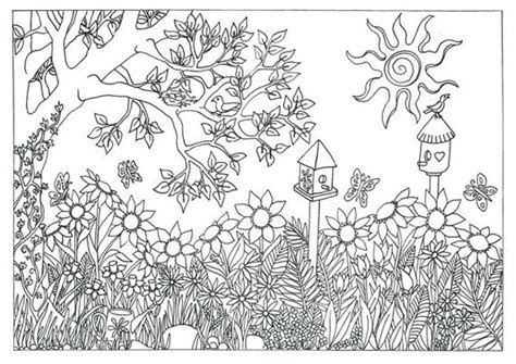 items similar  garden nature scene coloring page