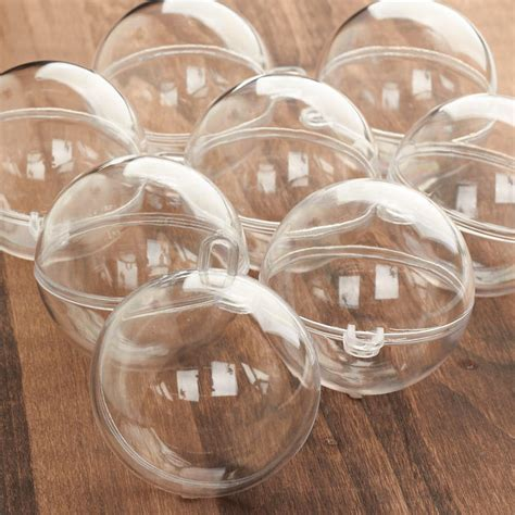 bulk mm acrylic fillable keepsake ball ornaments