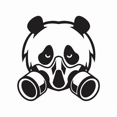 Panda Mask Gas Head Stickers Factory Vinyl