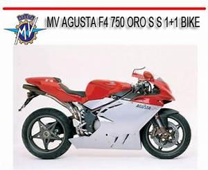Mv Agusta F4 750 Oro S S 1 1 Bike Repair Service Manual