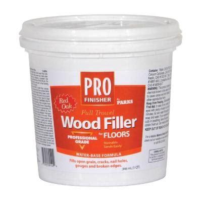 oak floor filler rust oleum parks 1 qt red oak pro finisher wood filler 138914 the home depot