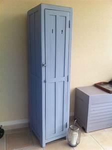 vestiaire bois meuble ancien en bois massif meuble With porte d entrée pvc avec petit radiateur soufflant mural salle de bain