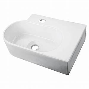 Bauhaus Gäste Wc Waschbecken : camargue waschbecken teneriffa keramik wei 27 x 45 cm bauhaus ~ Markanthonyermac.com Haus und Dekorationen
