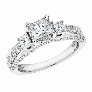 Real diamond engagement rings that will make her smile for Real diamond wedding rings