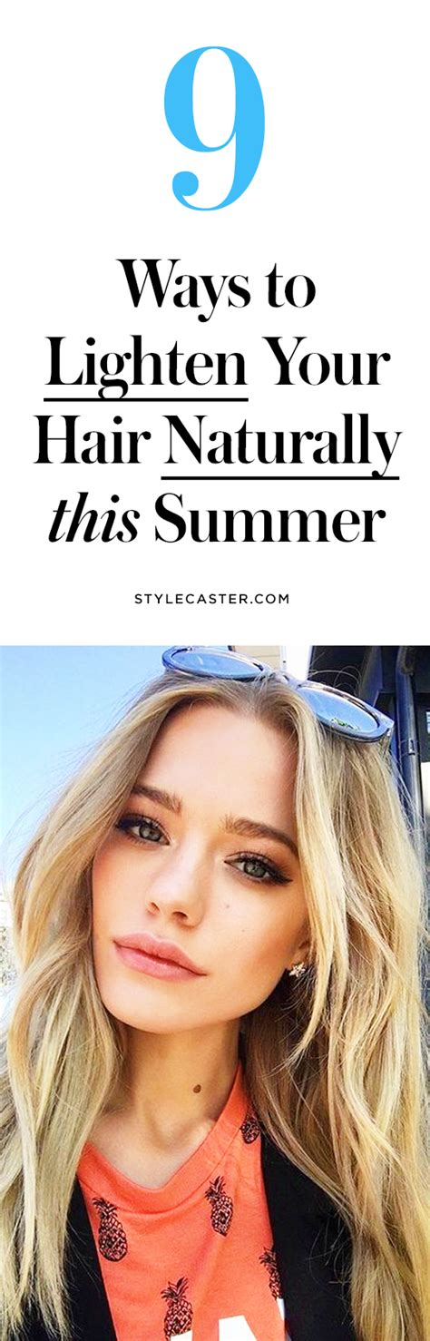 diy ways  lighten  hair naturally  summer