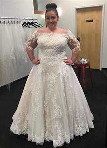 Modest bateau neck 2016 plus size wedding dresses cheap for Wedding dresses with sleeves cheap