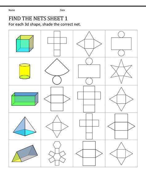 shape nets  easy  pattern shapes printable shelter