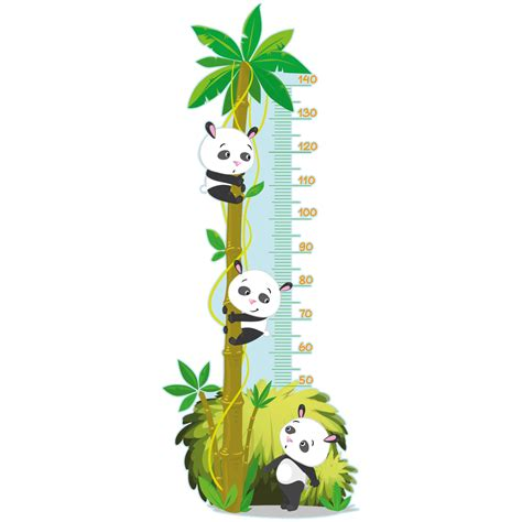 sticker toise arbre des pandas stickers stickers nature