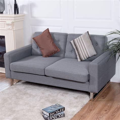 upholstered loveseat giantex 2 seat sofa home office modern loveseat
