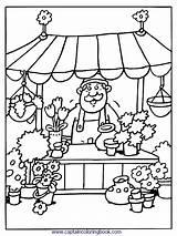 Coloring Kleurplaten Markt Pages Grocery Kleurplaat Nl Van Thema Op Eten Popular Pasen Voor sketch template