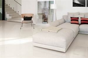 carrelage en gres cerame moderne 46 idees pour l39interieur With carrelage sol salon