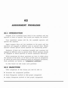 assignment problem hungarian method