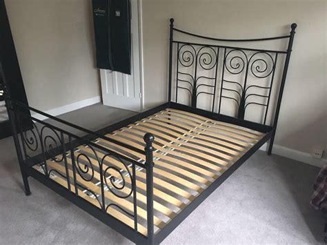 ikea noresund black metal bed frame in solihull