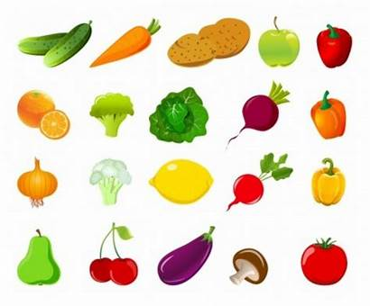 Vegetables Fruit Shapes Vegetable Clipart Vector Dried