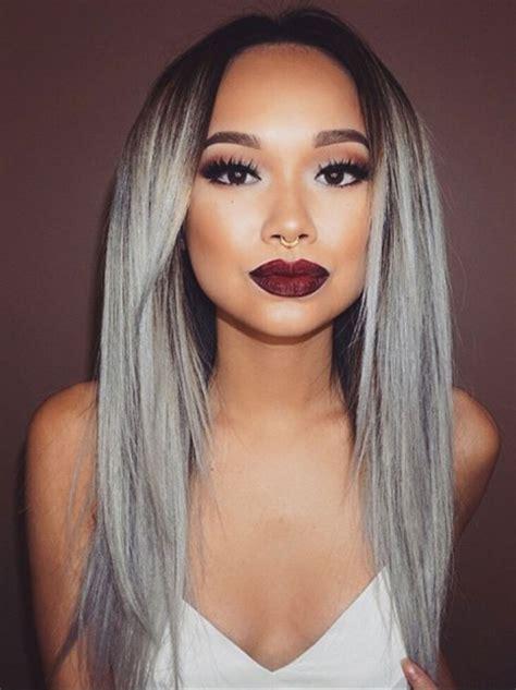 Couleur Gris Cheveux La Couleur De Cheveux Gris Toujours 224 La Mode Actualit 233 Du 05 09 2016
