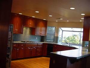 Fabulous Wooden Style Cabinets Kitchen Lighting Design