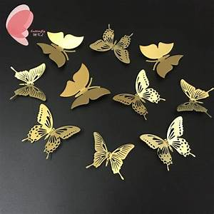 Free shipping pcs lot stainless steel gold butterfly