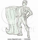 Matador Spanish Coloring Bull Template Clipart Sheet Line Spain sketch template