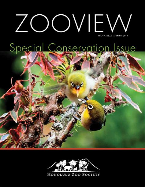 Zooview Summer 2014 By Honolulu Zoo Society Issuu