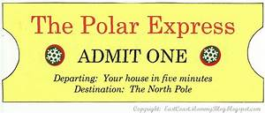 East coast mommy my version of the polar express for Polar express golden ticket template