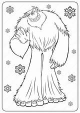 Coloring Yeti Bigfoot Printable Drawing Cartoon Outline Popular Sketches Printables Smallfoot Drawings Coloringoo sketch template