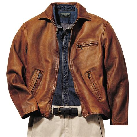 Cowhide Leather Jacket by Filson Halsey Washed Cowhide Leather Jacket For
