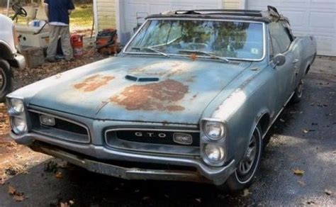 pin by tim on crashed abandoned old cars pontiac gto