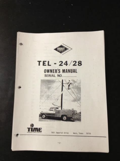 find versalift tel  owners manual  pages