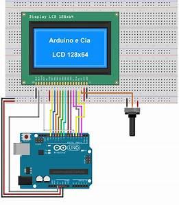 Display Gr U00e1fico Lcd 128x64 St7920 Em Modo 8 Bits  Paralelo