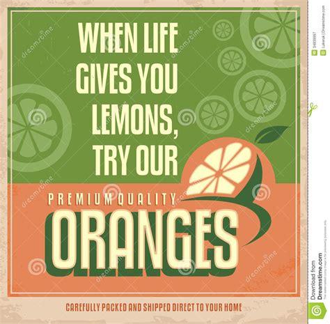 cuisines vintage orange retro creative poster design concept stock vector
