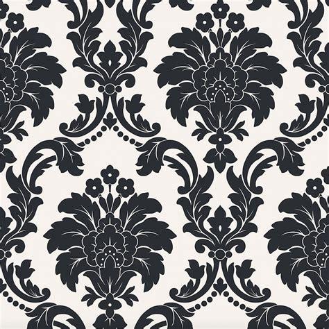 ARTHOUSE ROMEO DAMASK WALLPAPER   BLACK, BLUSH, GREY