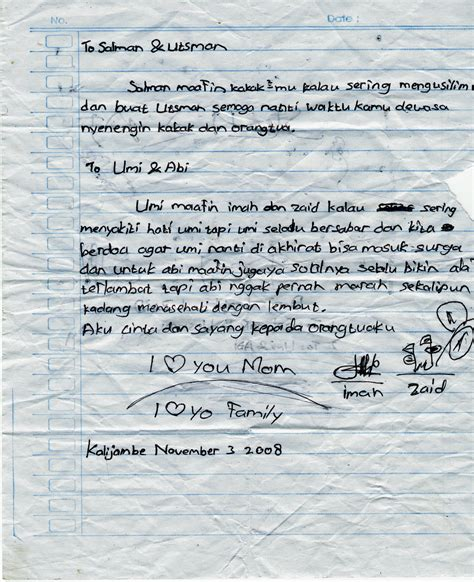 contoh surat cinta lucu menarik unik