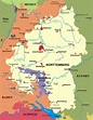 Map of Württemberg and Baden from 1810-1945 | Baden ...