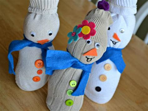 sock snowman diy crafts guide patterns