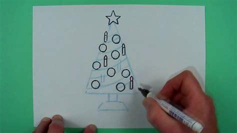 Wie Malt Einen by Wie Malt Einen Supereinfachen Weihnachtsbaum