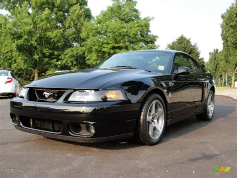 Black 2003 Ford Mustang Cobra Coupe Exterior Photo