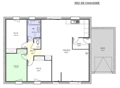 plan maison plain pied 3 chambres avec garage plan maison plain pied 3 chambres 90m2