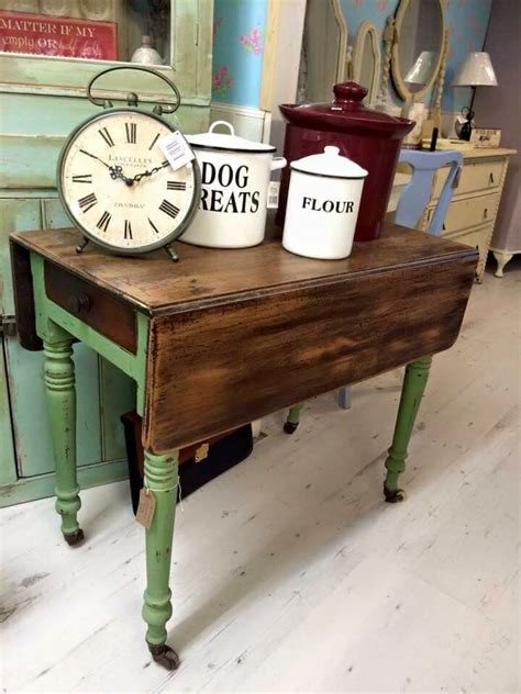 shabby chic drop leaf table drop leaf table painted vert olive autentico chalk paint rustic shabby chic my hobby