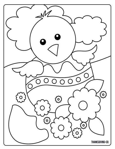 sweet  sunny spring easter coloring pages
