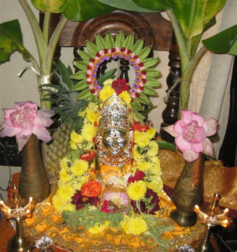 Varalakshmi Vratham Decoration Ideas With Coconut by Padma S Recipes Vara Mahalakshmi Vratham