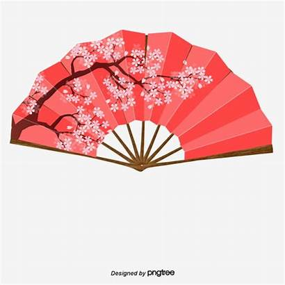 Japanese Fans Traditional Cherry Blossoms Fan Clipart