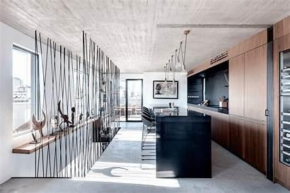 Penthouse Aviv Tel Duplex Apartment Sliding Kitchen