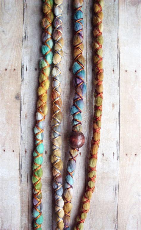 4 Vegan Nylon Tie Dye Synthetic Dreadlock Clip In Or