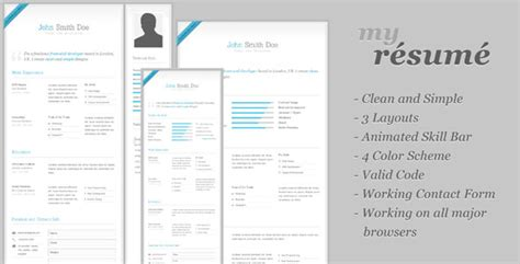 Drupal Experience Resume by My Resume Clean Cv Resume Themeforest Template 187 Themelock Free Premium Themes Templates
