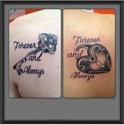 Tattoo Art  Sisters Tattoo  Couples Matching Tattoo  Keys And Locks  Lock And Key Matching Tattoo Designs