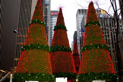 nyc nyc christmas holiday decorations  sixth avenue