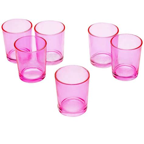 pink votive candle holders light in the pink glass votive candle holders