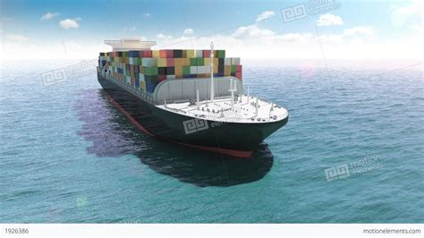 Ship Animation by Cargo Container Ship In A Sea Stock Animation 1926386