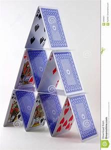 Card House Stock Image - Image: 5404051